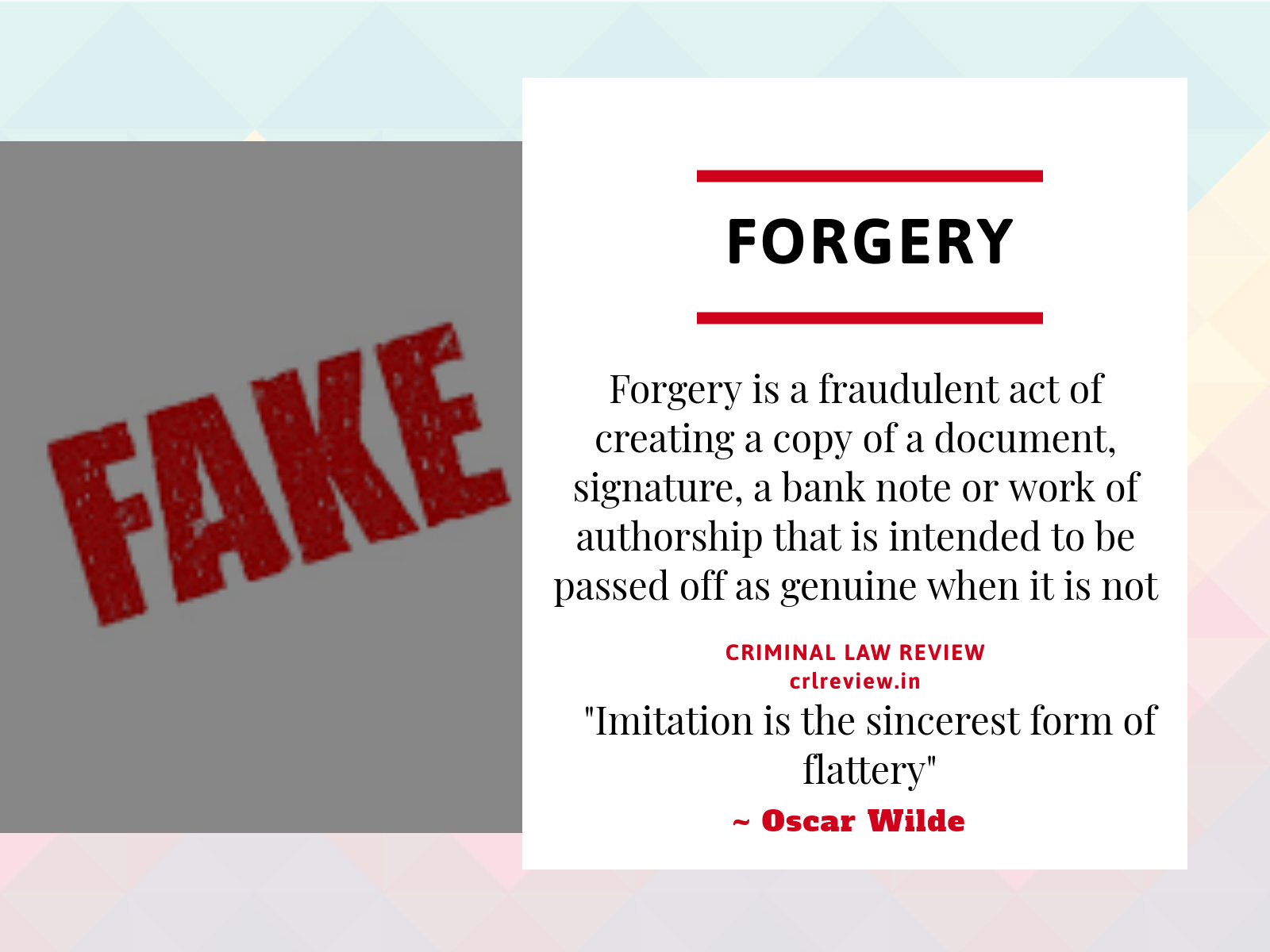 Forgery | Indian Penal Code
